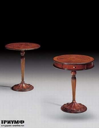 Итальянская мебель Medea - Столик с резной ножкой и ящиком арт. 517