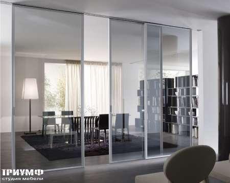 Итальянская мебель Longhi - Раздвижная перегородка Cristal стеклянная