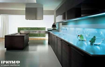 Итальянские кухни Pedini - Кухня Integra стеновая панель с подсветкой