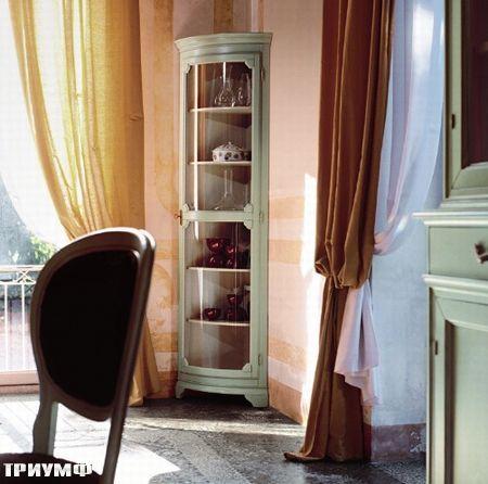 Итальянская мебель Tonin casa - витрина закругленная высокая из массива