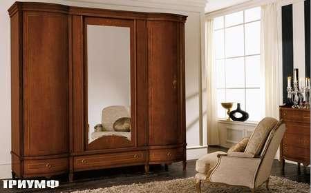 Итальянская мебель Grilli - Шкаф с дутыми дверьми и зеркалом