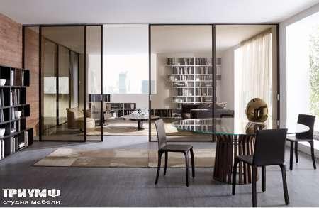 Итальянская мебель Longhi - Раздвижная перегородка Cristal дымчатое стекло