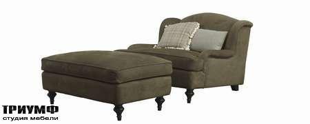 Итальянская мебель Galimberti Nino - кресло и пуф Tosca