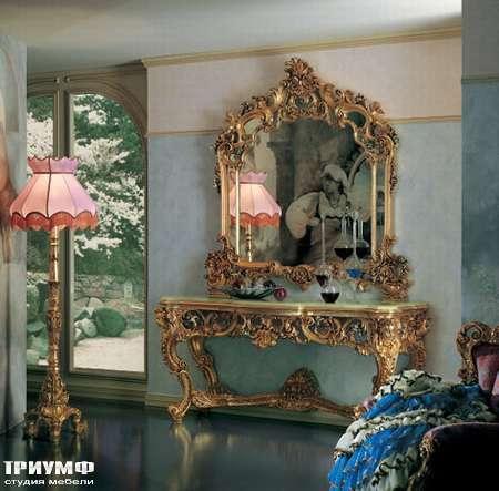 Итальянская мебель Silik - Консоль позолоченная