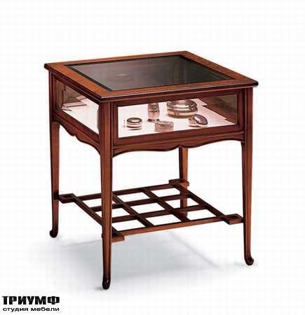 Столик журнальный с выдвижным ящиком и стеклянной столешницей