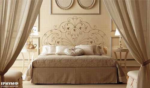Итальянская мебель Giusti Portos - Кровать с высоким изголовьем Fiordaliso