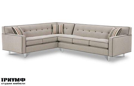 Американская мебель Rowe - Dorset Chrome Sectional Sofa