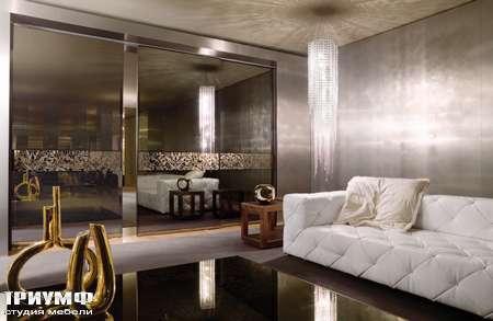 Итальянская мебель Longhi - Раздвижная двери Headline зеркало, вставка со стеклом
