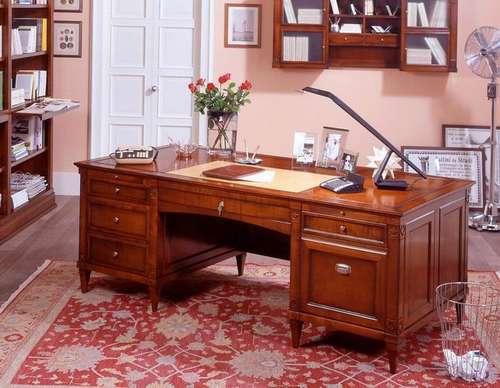 Итальянская мебель Arca - Письменный стол Novalis, дерево, кожа