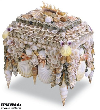 Американская мебель Currey and Company - Boardwalk Shell Jewelry Box
