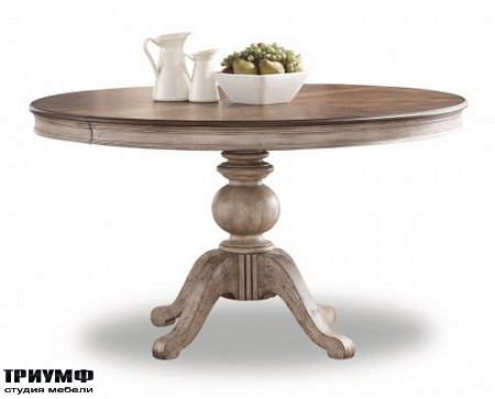 Американская мебель Flexsteel - Plymouth Round Pedestal Dining Table