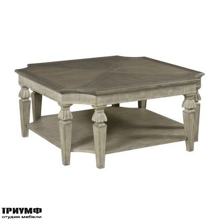 Американская мебель Hammary - DOROTHEA SQUARE COCKTAIL TABLE