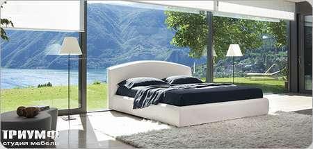 Итальянская мебель Bonaldo - кровать двуспальная Florence со съемным чехлом