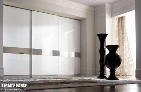 Итальянская мебель Longhi - Раздвижная перегородка Headline белый лак, стекло