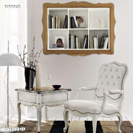 Итальянская мебель Flai - кресло арт деко в крашенном дереве и белом лаке