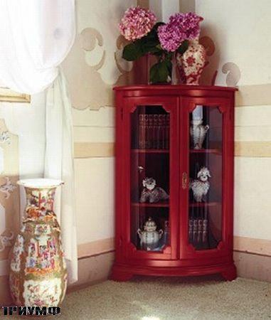 Итальянская мебель Tonin casa - витрина угловая закругленная