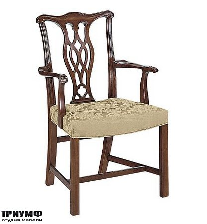 Американская мебель Hickory Chair - Carolina Chippendale Arm Chair