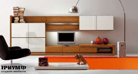 Итальянская мебель Pianca - Композиция, стенка People, дерево данелия, глянцевый лак