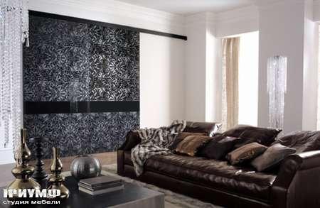 Итальянская мебель Longhi - Раздвижная перегородка Headline, узорчатое стекло