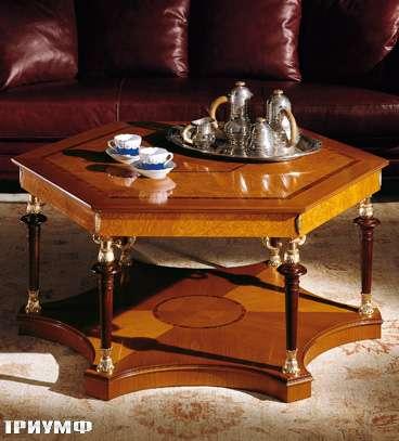 Итальянская мебель Colombo Mobili - Столик для гостинной в имперском стиле арт.362 кол. Leoncavallo