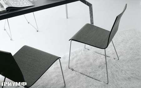 Итальянская мебель Presotto - стул Isi в сером дубе
