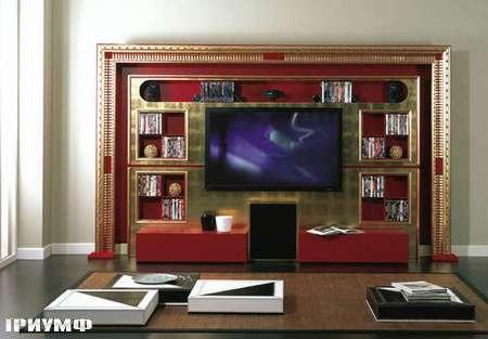Итальянская мебель Vismara - стенка под тв wall cinema